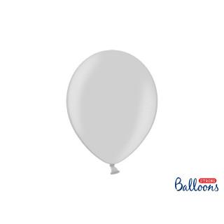 x10 Ballons metallic argent
