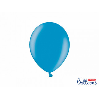 x10 Ballons metallic bleu