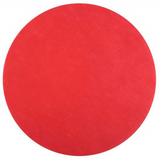 Set de table rouge rond
