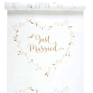Tapis Eglise Just Married Blanc et or