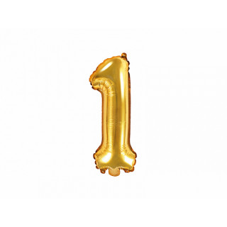 Ballon chiffre 1 or
