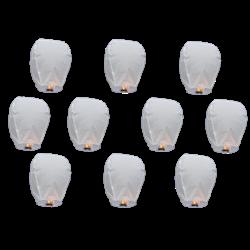 10 Lanternes Volantes Blanche