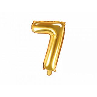 Ballon chiffre 7 or