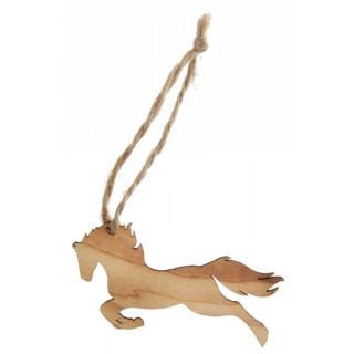 Marque place cheval bois et cordon