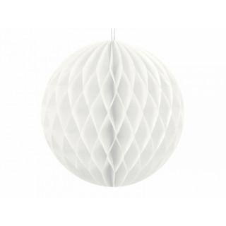x1 Boule Alvéolée 10cm - Blanche