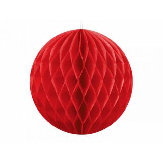 x1 Boule Alvéolée 10cm - Rouge