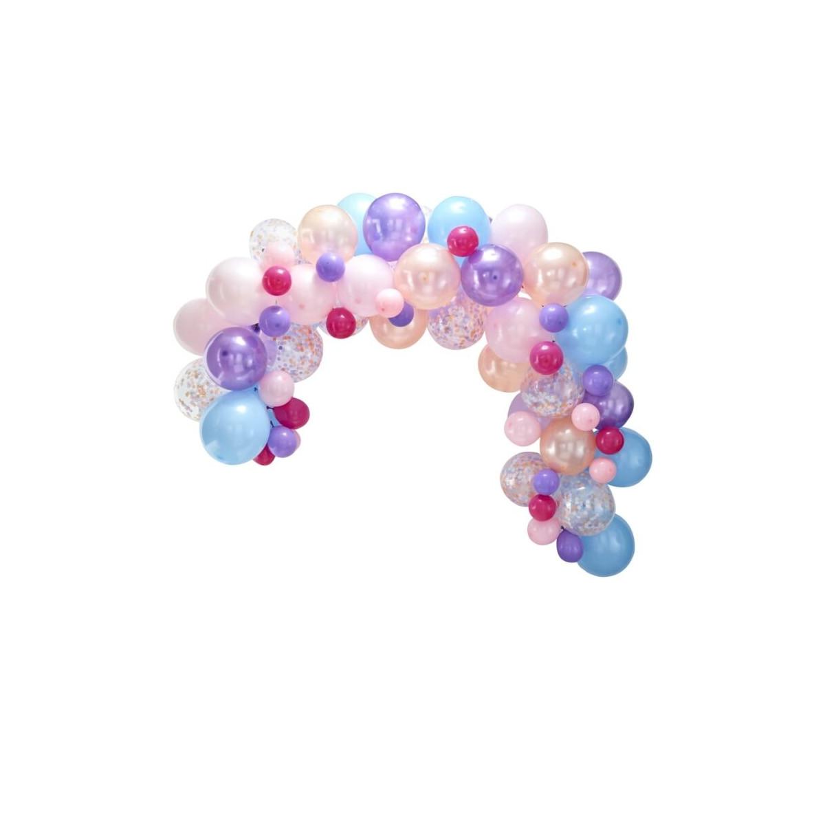 kit 80 ballons pastel