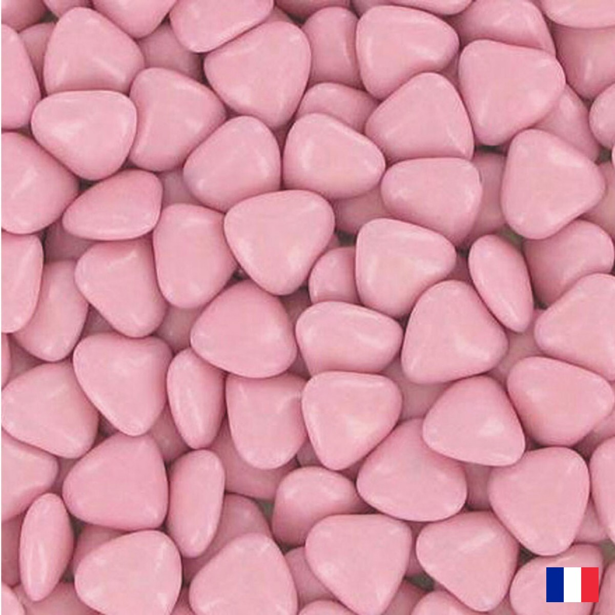 1kg Dragées coeur chocolat Rose
