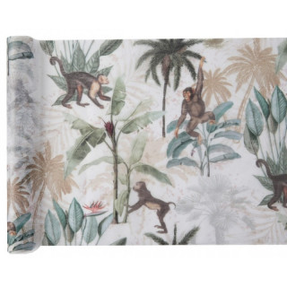 Chemin de table jungle tropical