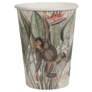 Gobelet jetable jungle tropicale