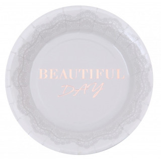 Assiette Beautiful Day lin et rose gold