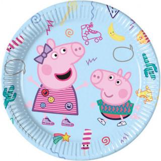 x8 Assiettes carton Peppa Pig