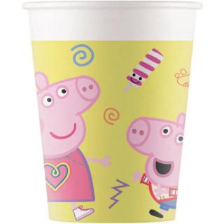 x8 Gobelets en carton Peppa Pig