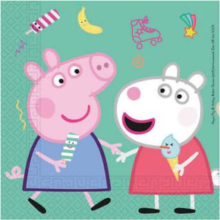 x20 serviettes en papier Peppa Pig