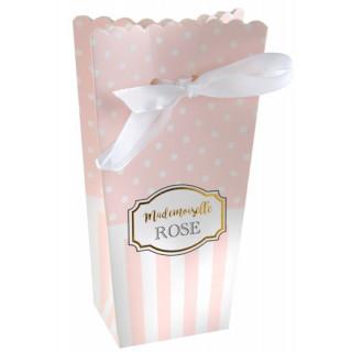 Boite dragées Mademoiselle Rose