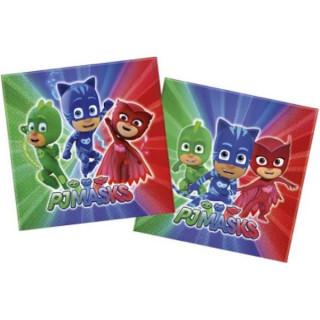 x20 serviettes en papier Pyjamasque