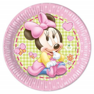 x8 Assiettes Baby Minnie