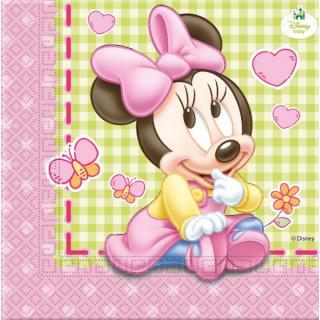 x20 Serviettes Baby Minnie
