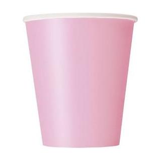 x25 Gobelets en carton rose