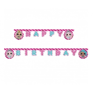 Guirlande anniversaire Poupée LOL