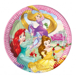x8 Assiettes Princesses Disney