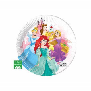 x8 Assiettes Princesses Disney compost