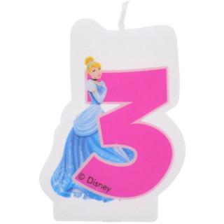 Bougie 3 ans Princesse Disney