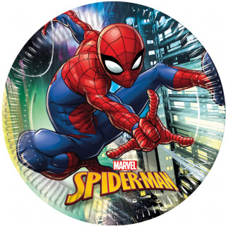x8 Assiettes Spiderman 23cm