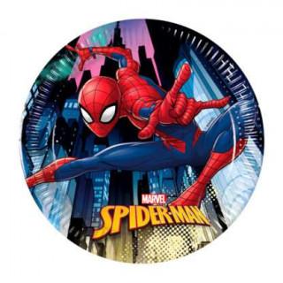 x8 Assiettes Spiderman 20cm
