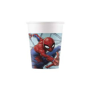x8 Gobelets en carton Spiderman