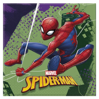 x20 Serviettes Spiderman