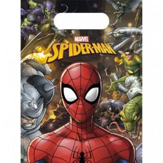 x6 Sac cadeaux Spiderman