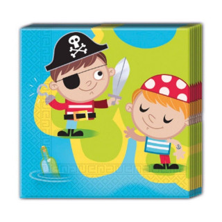 x20 Serviettes Pirate