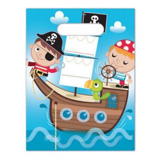 x6 Sac cadeaux Pirate