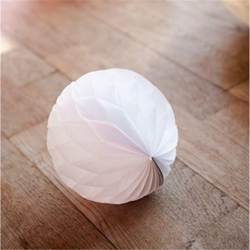 10 boules alvéolées 6cm - Blanc