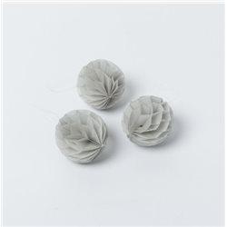 10 boules alvéolées 6cm - Gris