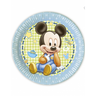 x8 Assiettes Baby Mickey