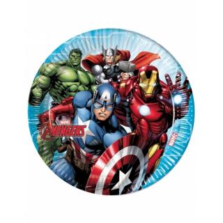 x8 Assiettes Avengers 23cm