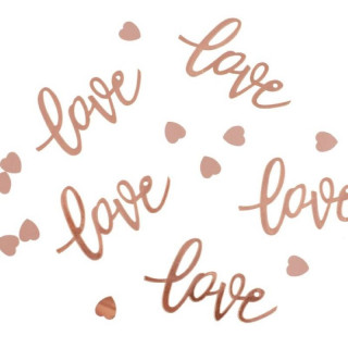 decoration-de-table-coeur-love-rose-gold