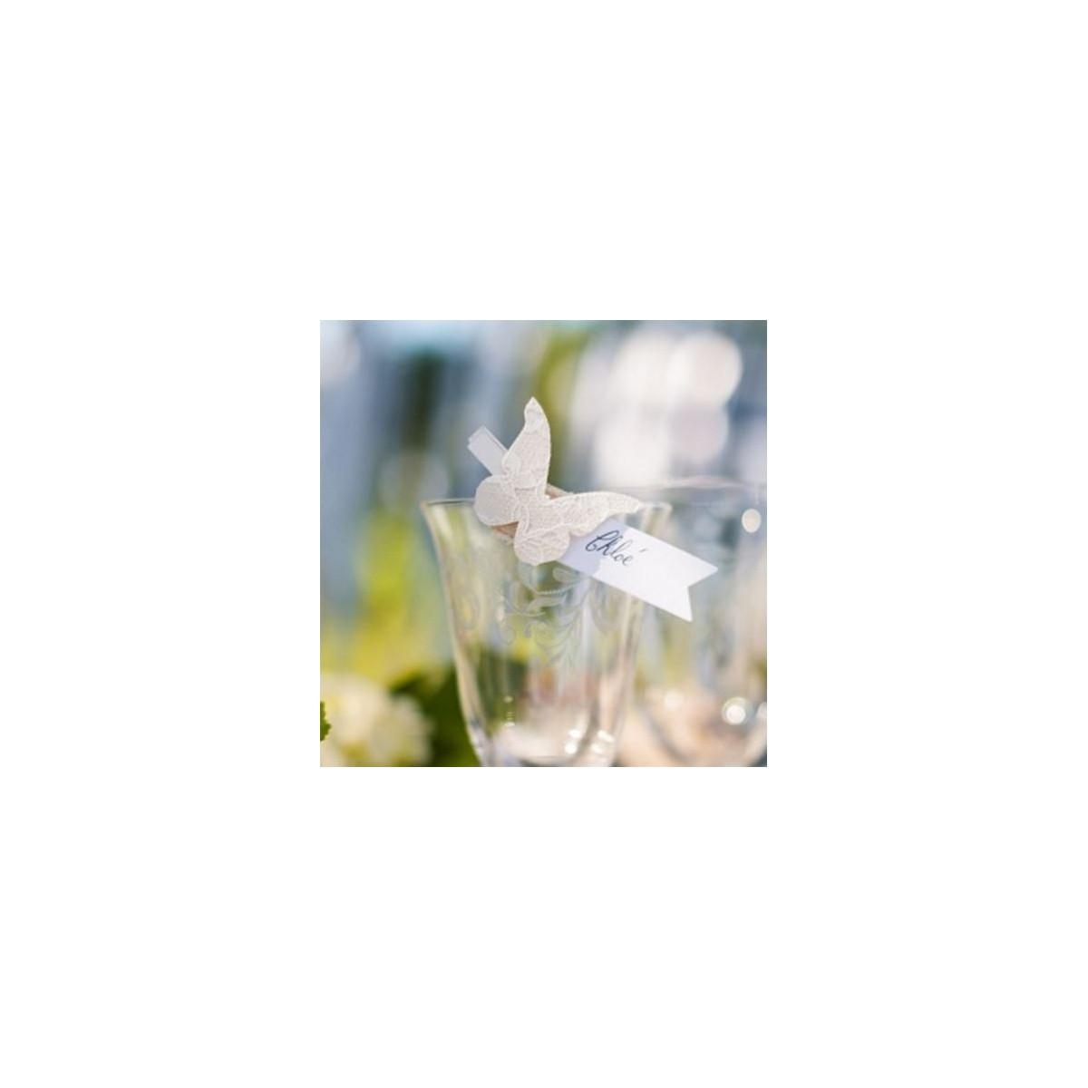 6 pinces papillons