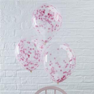ballons-confettis-roses