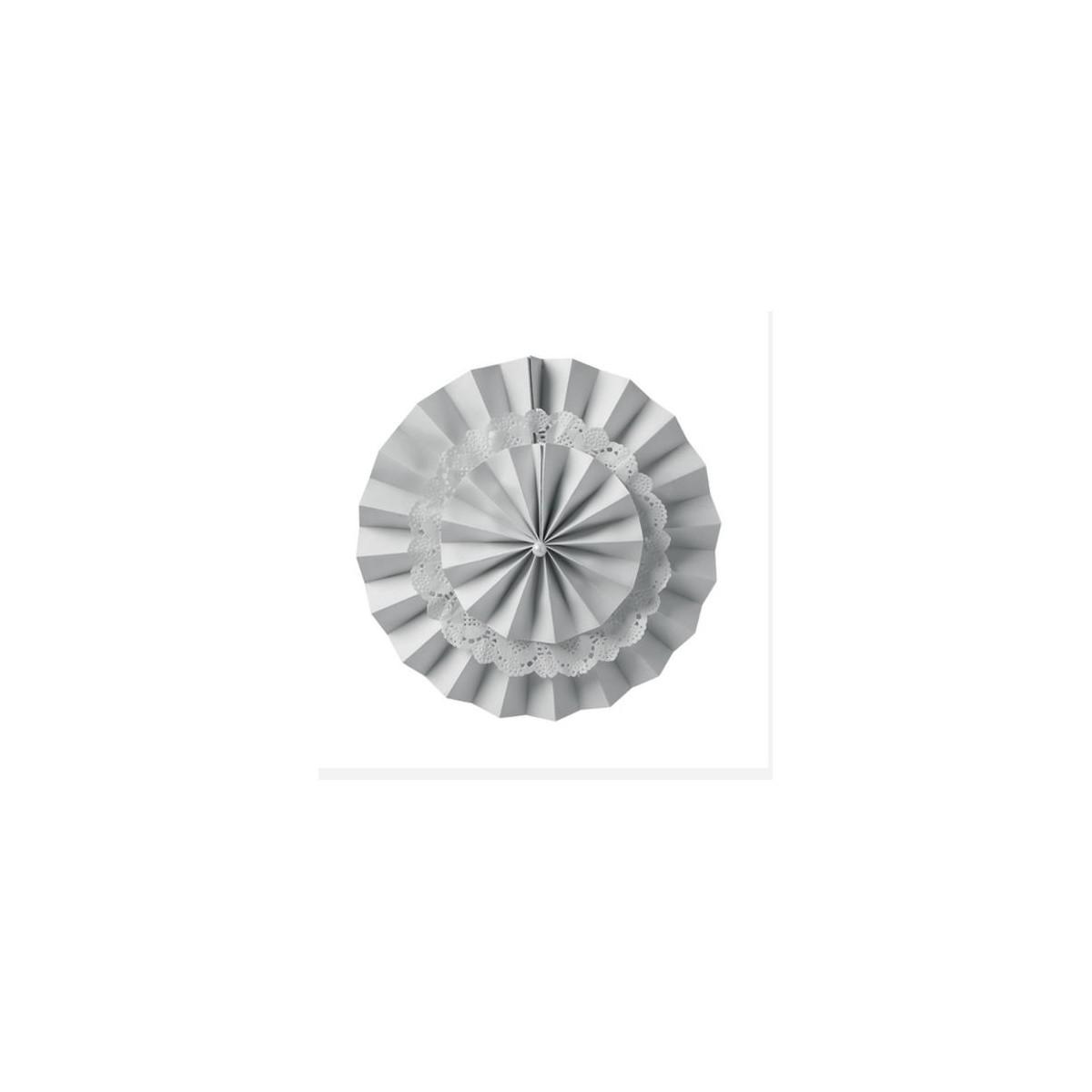Eventail deco gris
