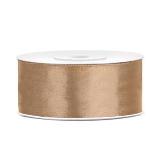 Ruban en satin couleur gold 25m x 25mm