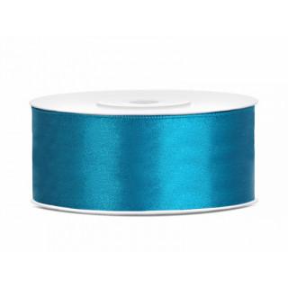 Ruban en satin couleur bleu turquoise 25m x 25mm