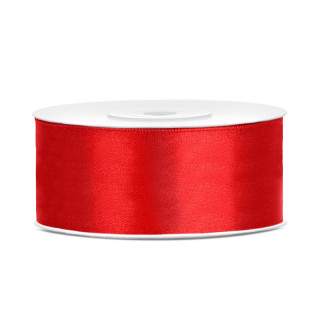 Ruban en satin couleur Rouge 25m x 25mm