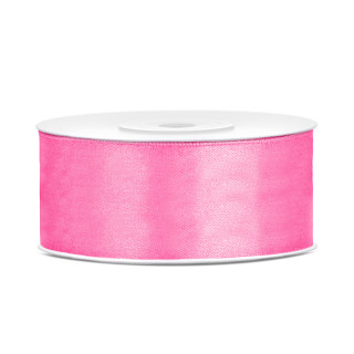 Ruban en satin couleur Rose 25m x 25mm