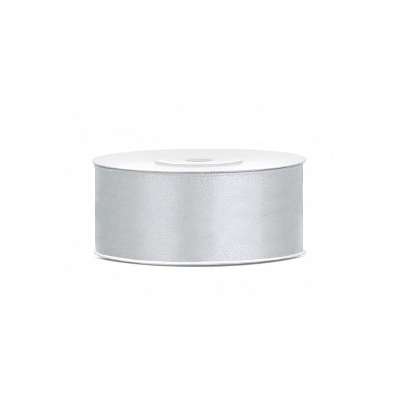FEPITO Paquet de 2 Ruban de No/ël Ruban argent/é 25 mm de Large piqu/é de 20 mm pour Emballage de Cadeaux Rubans de No/ël pour Ruban Artisanal en Organza pour Arbre de No/ël 2 pi/èces en Argent