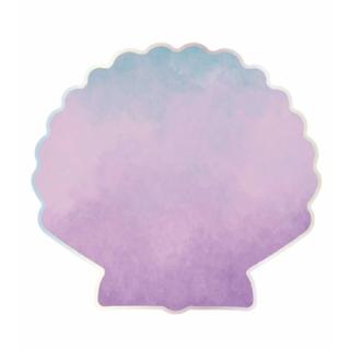 serviettes coquillage violet x16