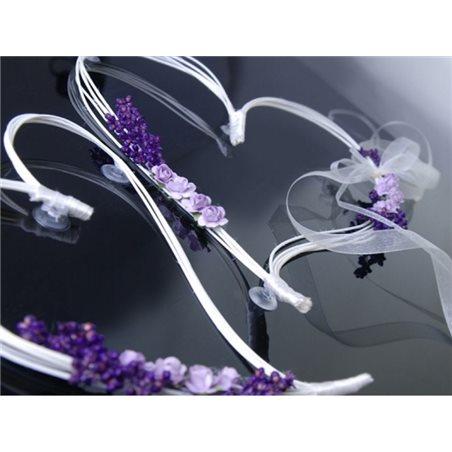 Decoration Voiture Mariage Coeur Parme