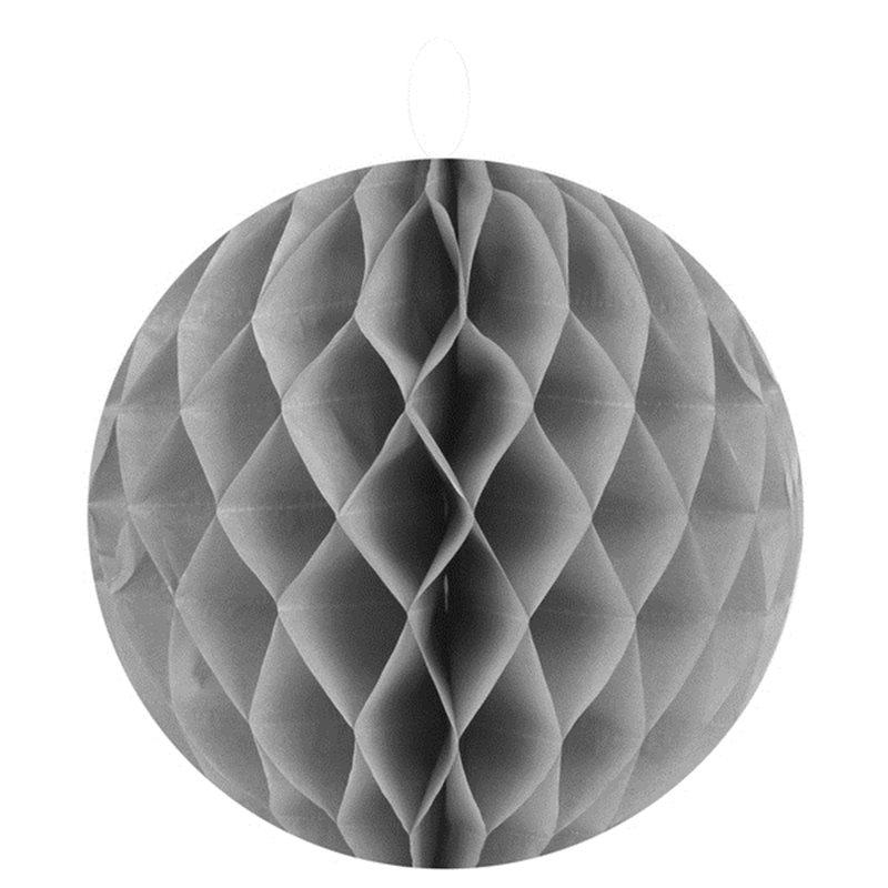2 Boules Alvéolées 20 cm - Gris